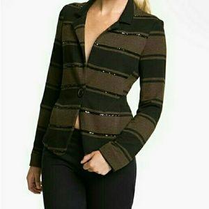 Bailey 44 stripe sequin blazer